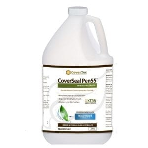 CoverSeal PEN 55 Water-Based, Oil And Stain-Resistant Penetrating Concrete Paver Sealer