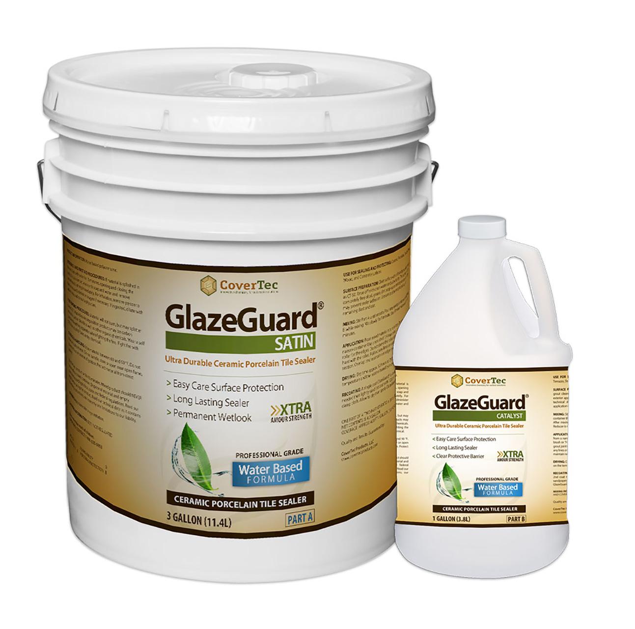 Glazeguard Satin Ceramic Porcelain Tile Sealer Satin Finish