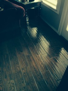 Wood Look Porcelain Tile Sealed With Glazeguard Gloss