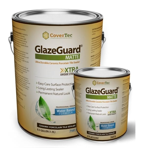 Glazeguard Matte Ceramic Amp Porcelain Tile Sealer Flat Finish