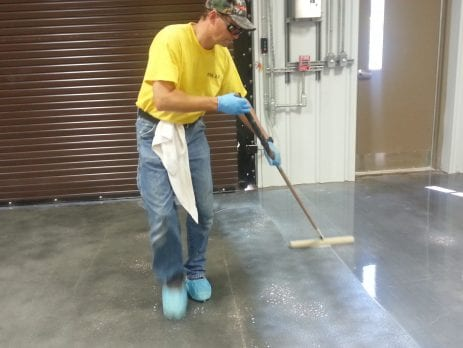 Cleaning Stained Concrete Sunrise
