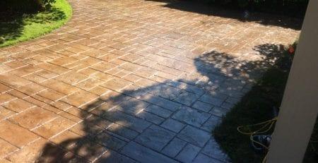 Acid Wash Concrete Driveway Sunrise