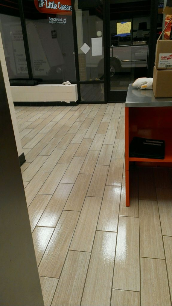 Glazeguard Gloss On Wood Look Porcelain Tile