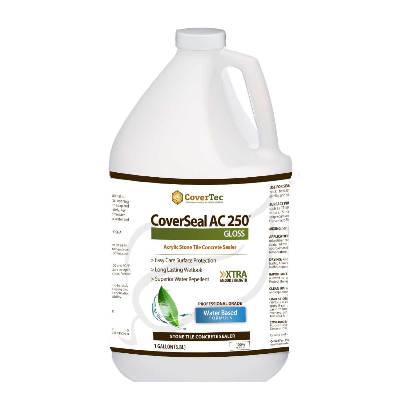 CoverSeal AC250 Wetlook WB Acrylic Sealer, Gloss Finish