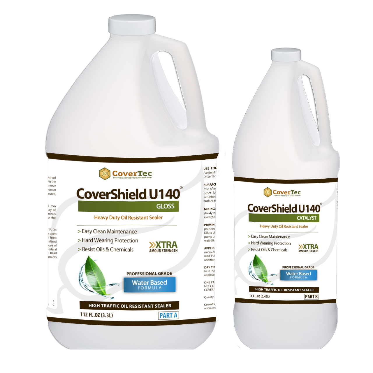CoverShield U140 Semi Gloss Heavy Duty Oil And Stain Resistant Coating