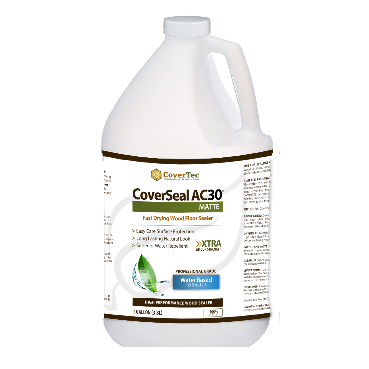 CoverSeal AC30 Matte Wood Floor/Laminated, Low Sheen Sealer