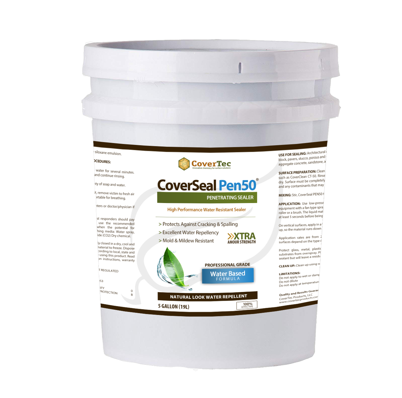 CoverSeal PEN 50 Water, Salt And Mold Resistant Penetrating Sealer