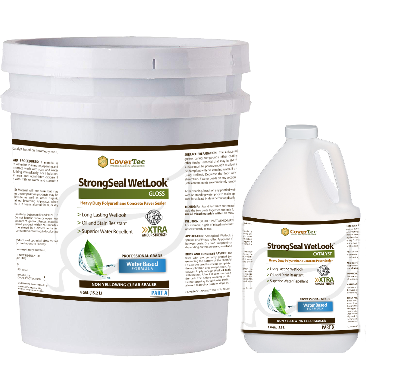 StrongSeal Wetlook Concentrate Heavy Duty Wetlook Paver Sealer