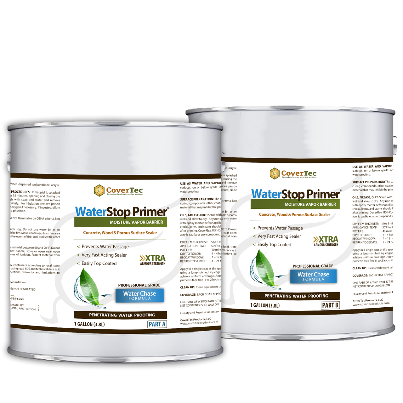 CoverShield WaterStop Primer – An Exterior / Interior Waterproofing Primer For Concrete, Masonry & Wood
