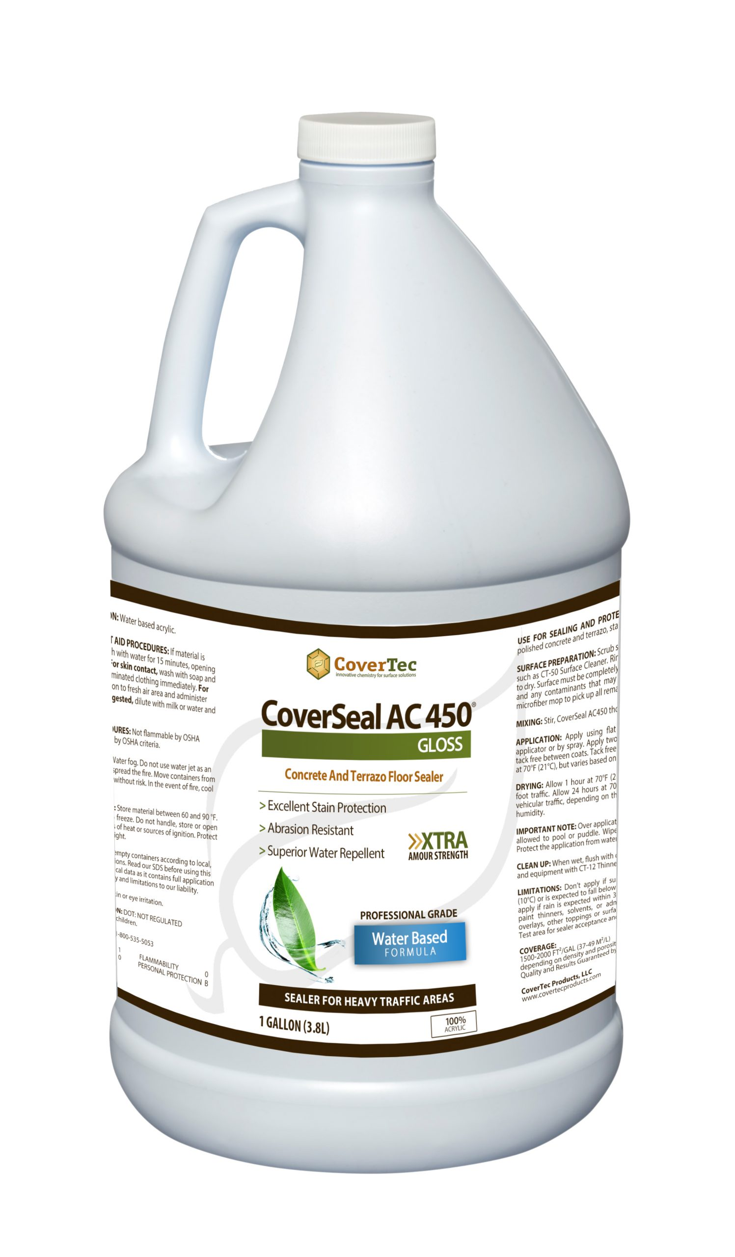 CoverSeal AC450 Stain Resistant WB Acrylic Sealer, Gloss Finish