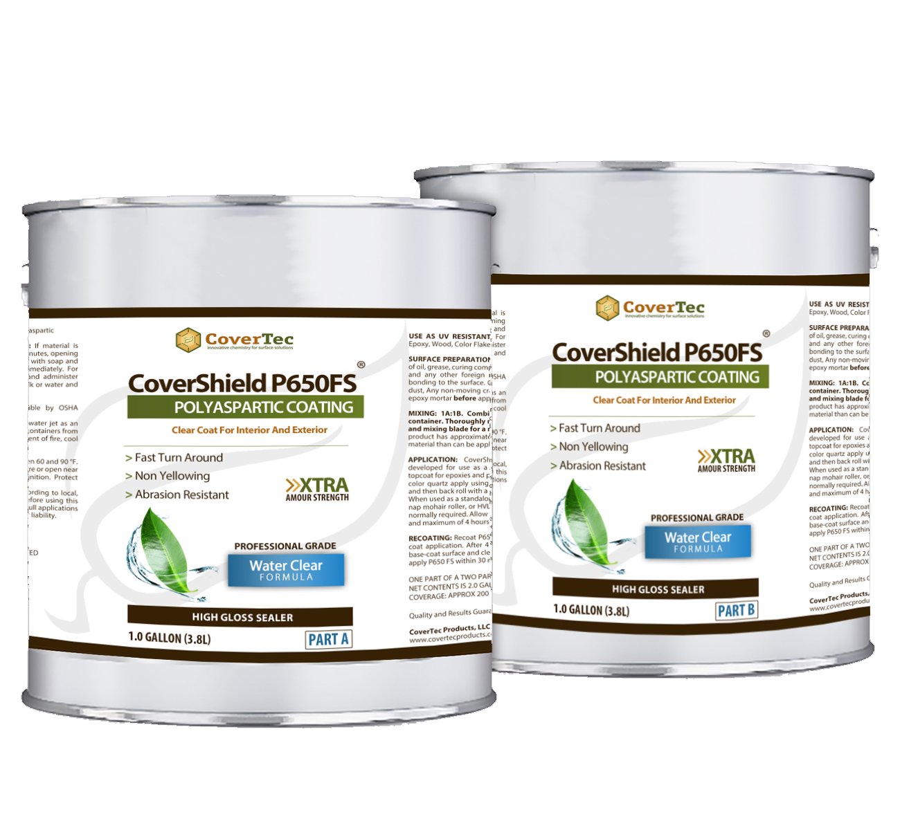 CoverShield P650 FS – Polyaspartic Coating For Concrete